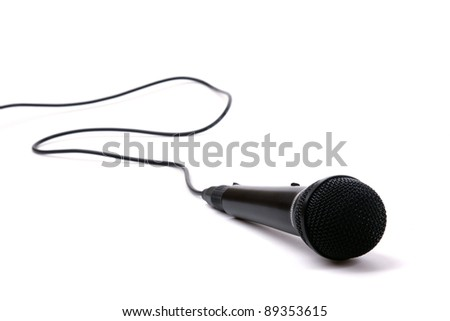 An image of a microphone isolated on white background