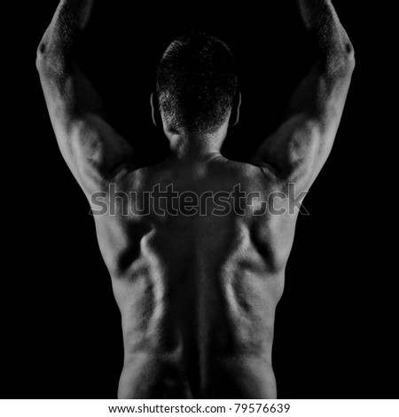 An image of a middle age man back side - stock photo