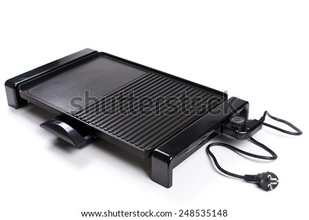 An image of a new electric barbecue isolated on white background - stock photo