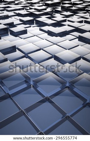 An image of a nice abstract glass cubes background