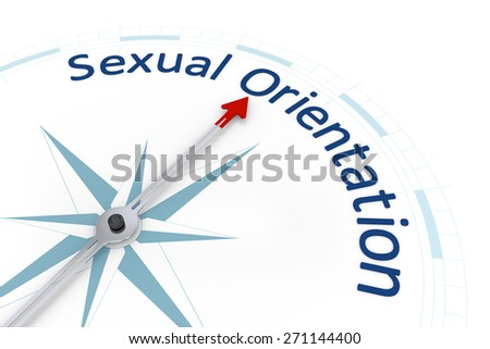 An image of a nice blue compass with the word sexual orientation - stock photo