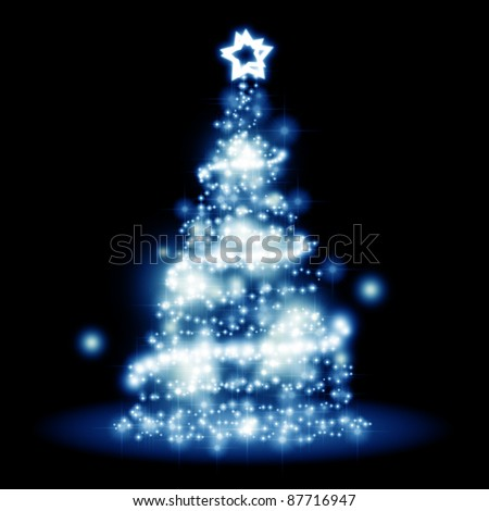 An image of a nice christmas tree lights background - stock photo