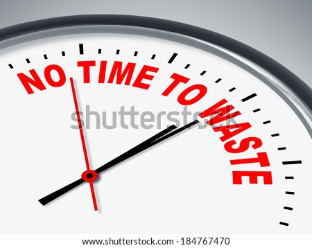 An image of a nice clock with no time to waste - stock photo
