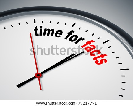 An image of a nice clock with time for facts