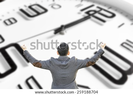 An image of a nice clock with time for lunch - stock photo