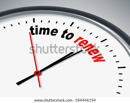 An image of a nice clock with time to renew