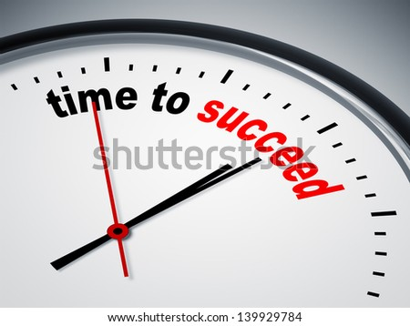 An image of a nice clock with time to succeed