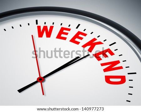 An image of a nice clock with weekend
