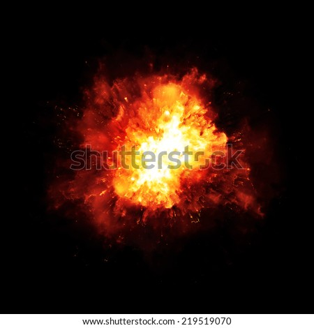 An image of a nice fire explosion - stock photo