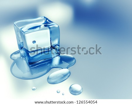 An image of a nice ice cube background - stock photo