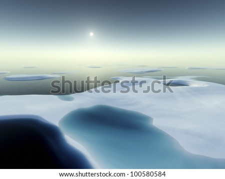 An image of a nice north pole scenery - stock photo