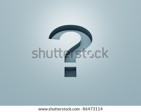 An image of a nice question mark background
