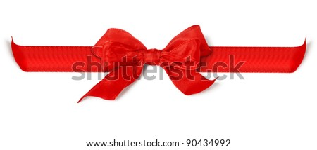 An image of a nice red bow - stock photo