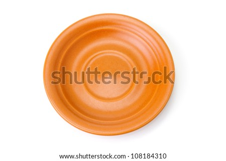 An image of a plate on white background - stock photo