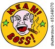 An image of a screaming mean boss. - stock vector