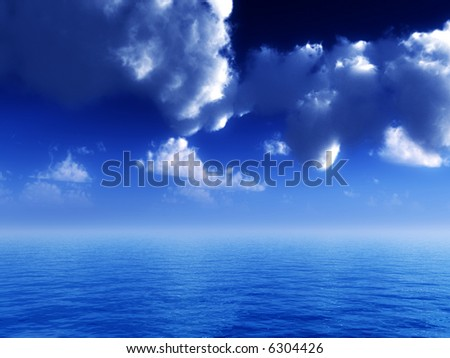 An image of a simple ocean view scene.