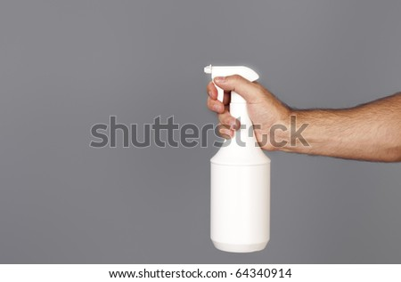 An image of a spray isolated on grey background