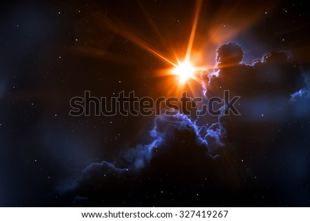 An image of a strange sun in space