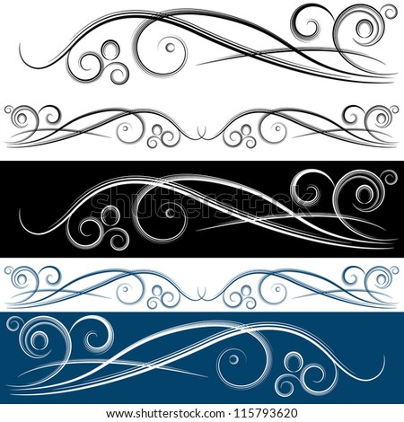 An image of a swirl banner set. - stock photo