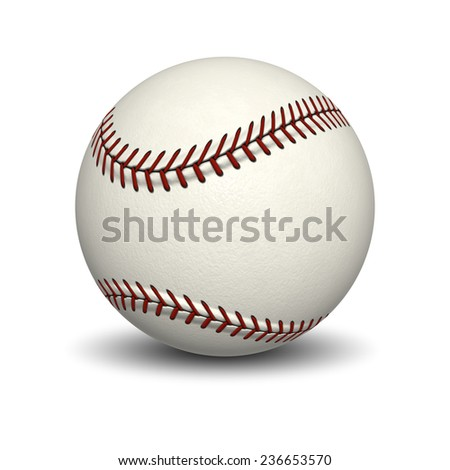 An image of a typical base ball - stock photo