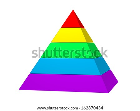 An image of a typical color pyramid - stock photo