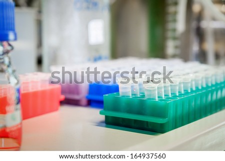 An image of a typical laboratory scene - stock photo