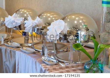 An image of a upscale event buffet - stock photo