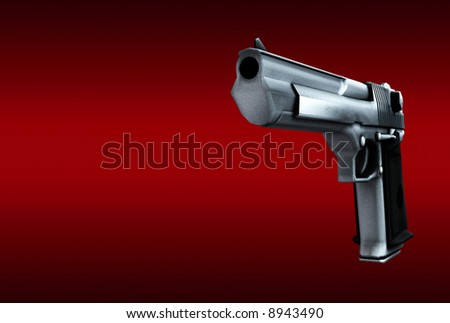 An image of a weapon, in this case a gun, this image could be used for criminal concepts.