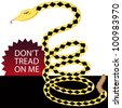 An image of a yellow rattlesnake. - stock photo