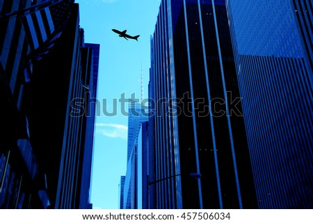 an image of airplane - stock photo