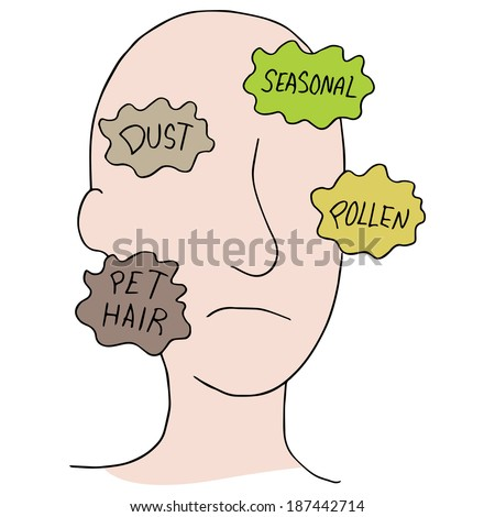 An image of allergy sources. - stock photo