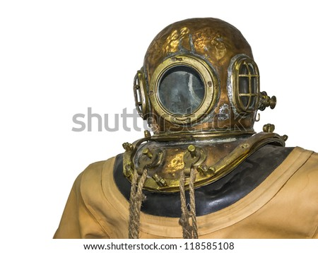 An image of an old diving suit - stock photo