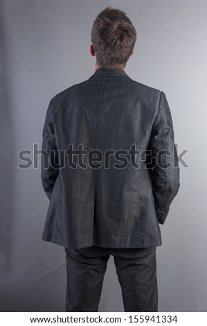 an image of back businessman  - stock photo