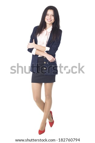 An image of Beautiful businesswoman in studio