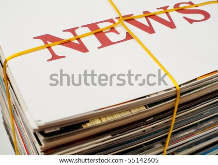 An image of big stack of newspapers - stock photo