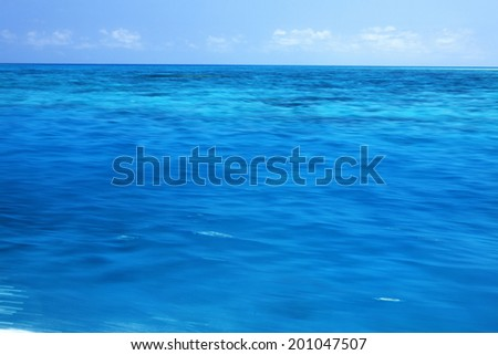 An Image of Blue Sea