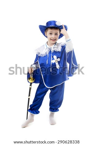 an image of boy in a suit musketeers