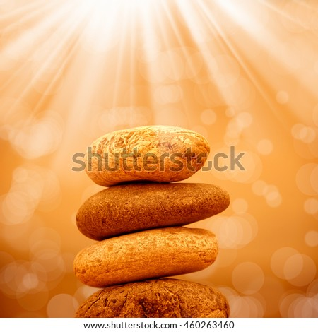 an image of bunch of pebble stone - stock photo