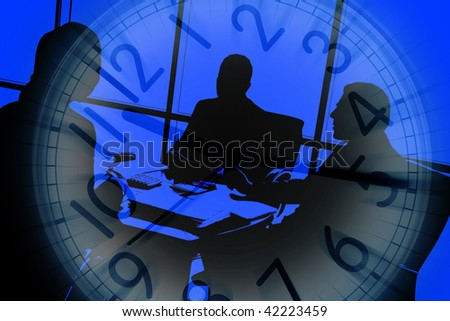 an image of business people at meeting - stock photo
