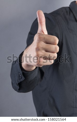 an image of businessman thumbs up - stock photo