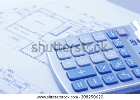 An Image of Calculator And Blueprint