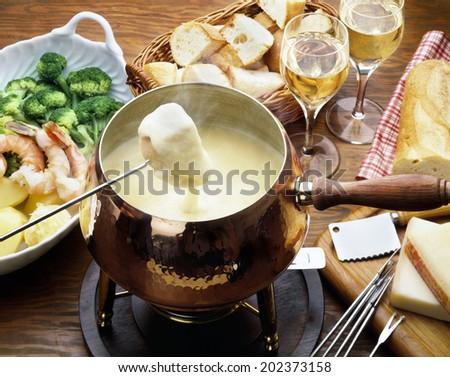 An Image of Cheese Fondu - stock photo