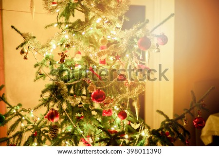 An image of christmas tree decoration - stock photo