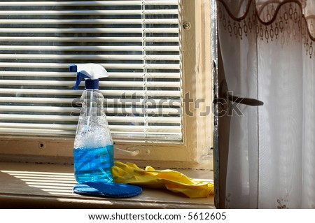 An image of cleaning means for window cleaning