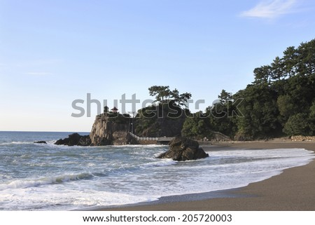 An Image of Coast In Japan