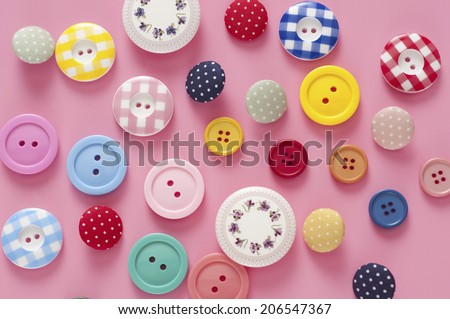 An Image of Colorful Buttons