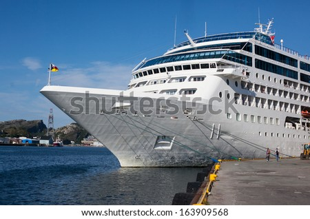 An image of cruise liner - stock photo