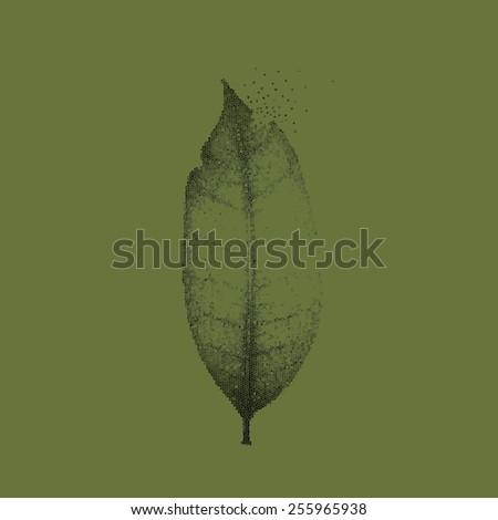 An image of decreasing green. - stock photo