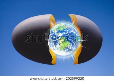 An Image of Earth And Eggshell