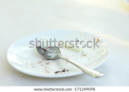 An image of empty dessert dish - stock photo